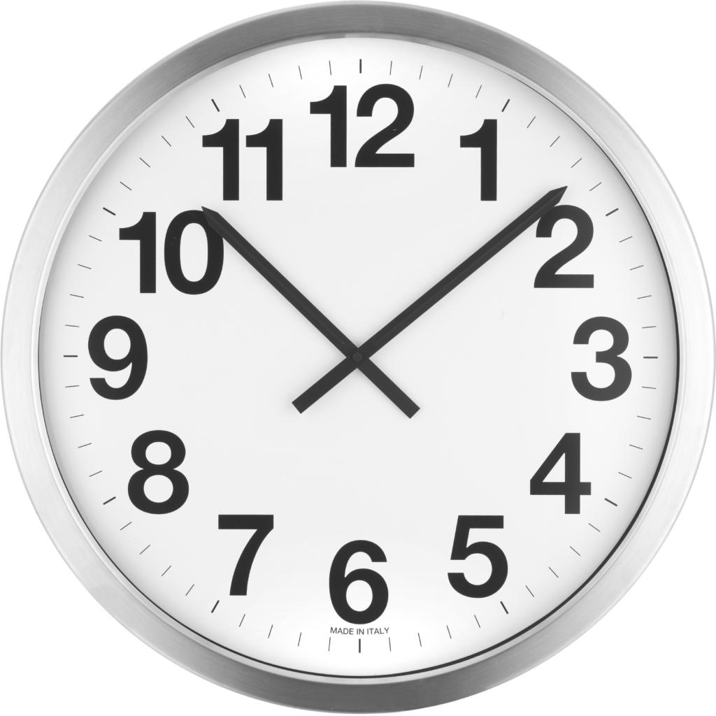 Orologio da parete personalizzabile con il tuo logo con cassa in metallo