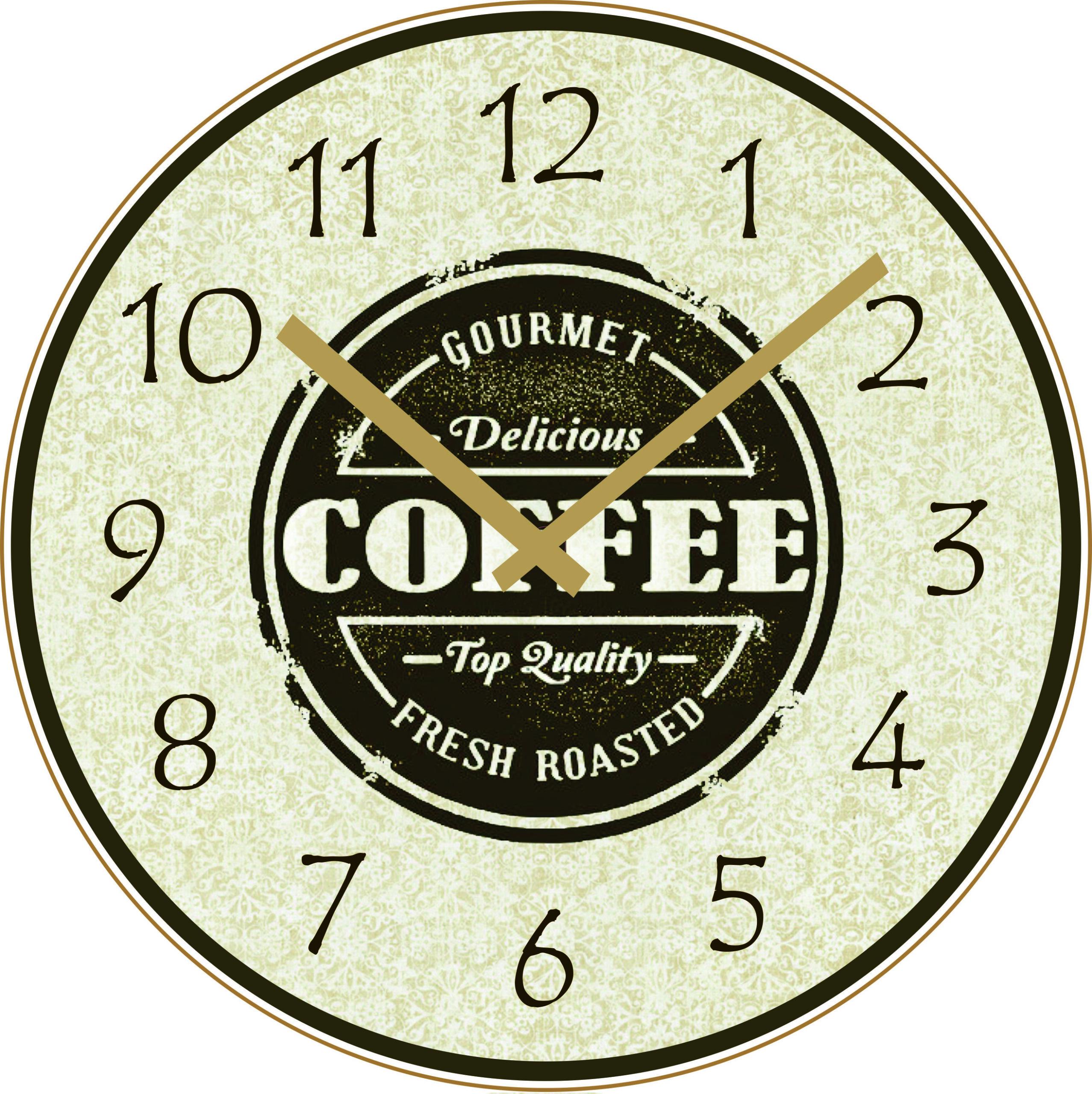orologio pubblicitario da parete in legno