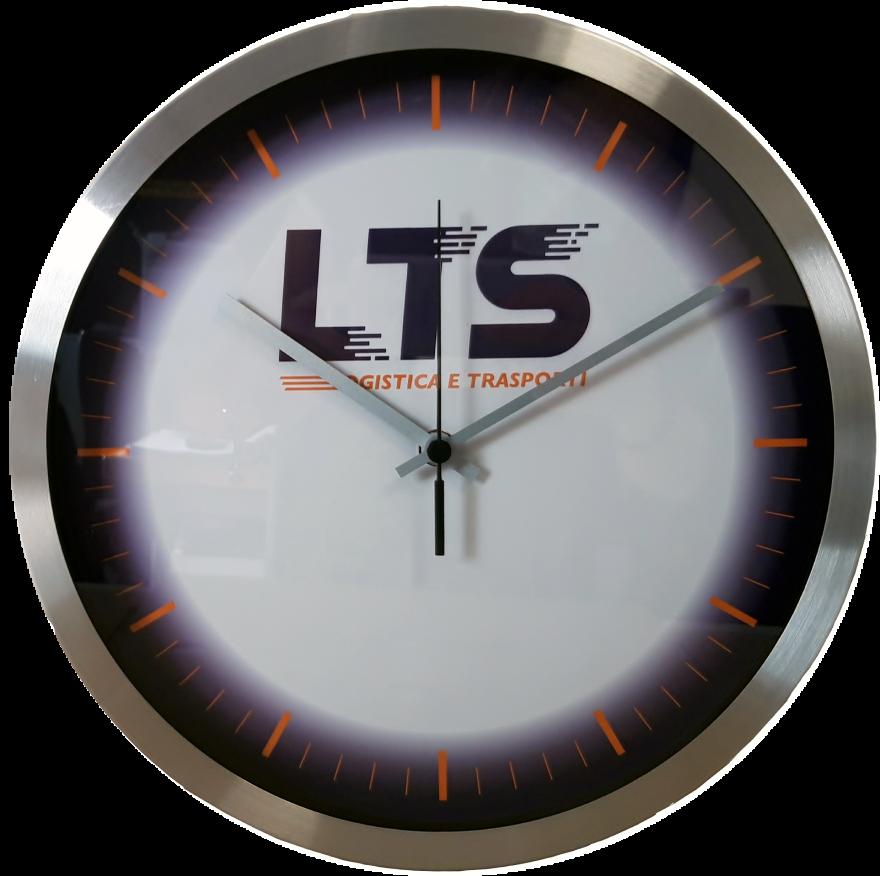 Esempio di Orologio da parete con logo dell'azienda (LTS)
