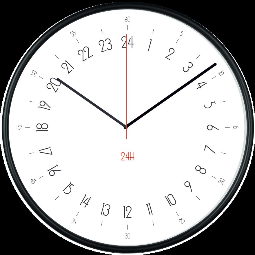 orologio da parete pubblicitario 24 ore