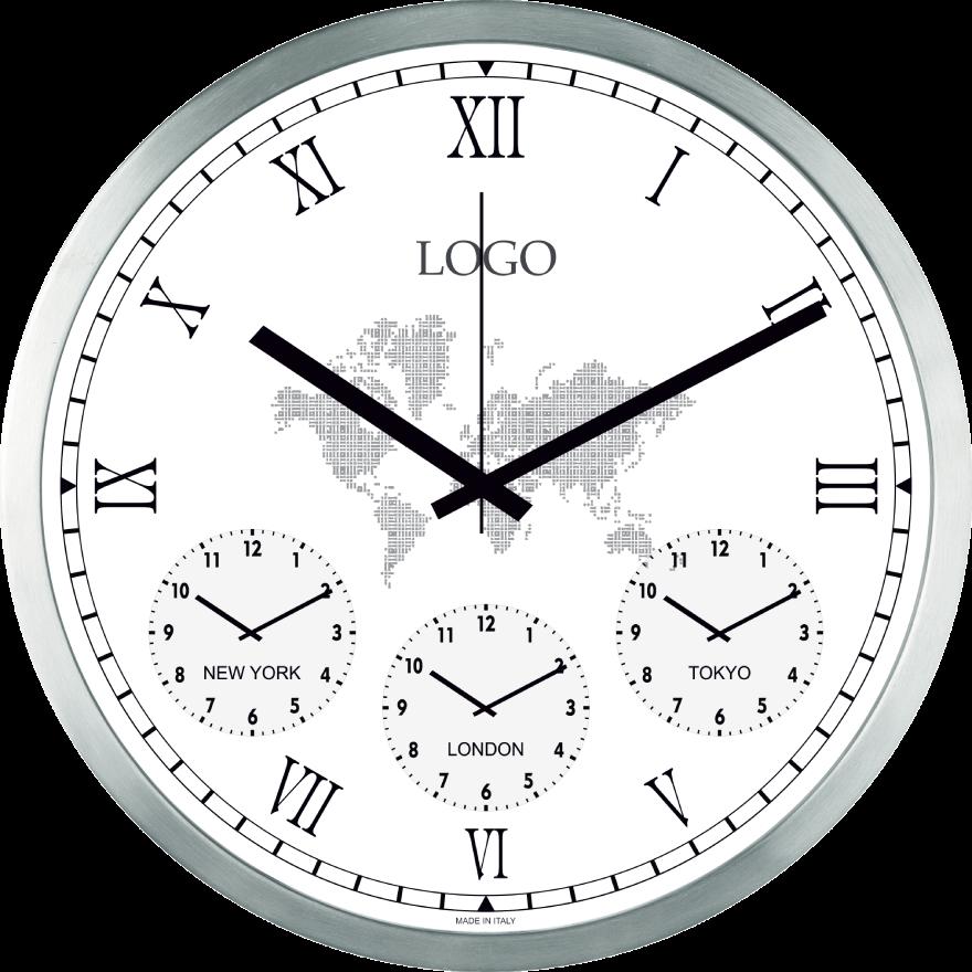 orologi promozionali da parete con i fusi orari